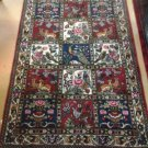 3x5 HANDMADE HANDKNOTTED AUTHENTIC PERSIAN BAKHTIARI SAMAN 4 SEASONS DESIGN RUG