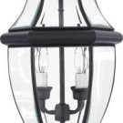 Quoizel  NY9042K Newbury 2 Light Outdoor Post Lantern in Mystic Black GOOD DEAL!