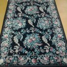 4x6 Authentic Highly Decorative Handmade Sino-Persian Savonnerie Design Area Rug