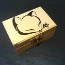 "rare hand made collectible "" fox with rose "" trinket box, vintage, womens"