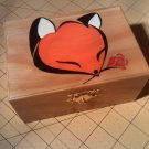 "rare collectible "" fox with rose 2 "" trinket box, vintage, womens jewelry box, stash box"