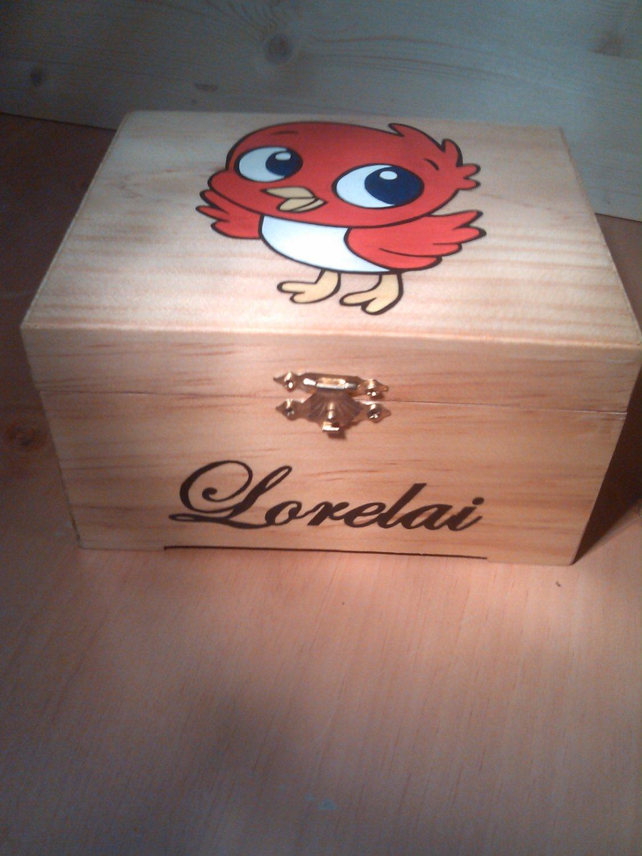 """rare hand made collectible """" bird """" trinket box"""