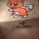 "CF- rare collectible "" fox "" trinket box, womens jewelry box, present, gift, stash box"