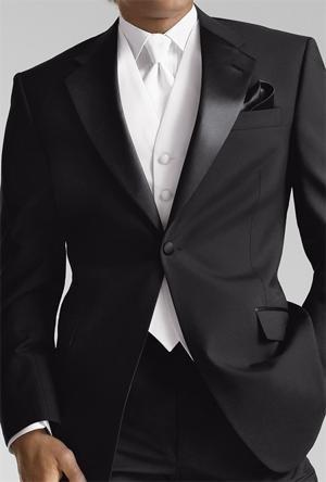 Tommy Hilfiger 1 button notch (black) Rental