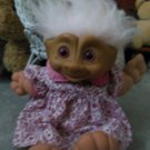 Red Ruby Jeweled WISHSTONE Treasure Troll Doll Collectible 1991 by Ace Novelty
