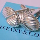 TIFFANY AND CO.  CUFF LINKS ~  STERLING SILVER ~ NAUTICAL COLLECTION SEA SHELLS~ RARE ~ BEAUTIFUL ~