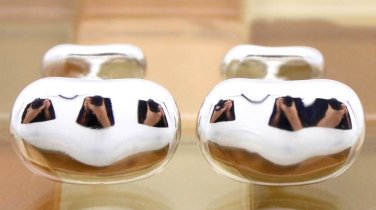 TIFFANY AND CO. CUFF LINKS ~ DESIGNER ELSA PERETTI ~ BEAN COLLECTION ~ STUNNING ~ VERY RARE ~