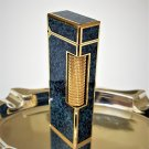 DUNHILL LIGHTER ~ GOLD AND LAPIS BLUE LACQUER ~ ULTRA RARE ~  STUNNING !!!
