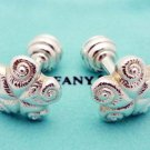 TIFFANY AND CO. CUFF LINKS ~NAUTICAL COLLECTION ~ STAR FISH ~ SILVER ~ BOX ~ POUCH ~ EXCELLENT !!!