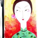 iPurse® Hand Painted on silk-Tai Tai Green-Pouch/Wallet/ Phone case/evening purse