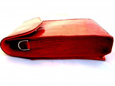 iPurse® Genuine Orange Lizard Leather Phone case/Wallet/Evening purse
