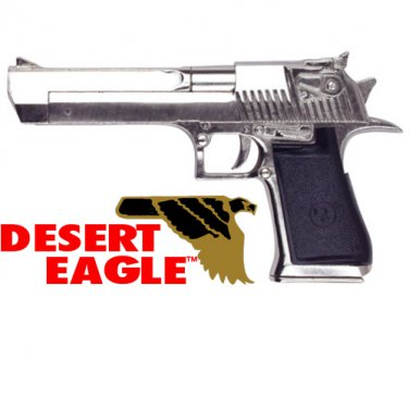 Desert Eagle Replica Pistol Nickel NON-Firing Prop Metal