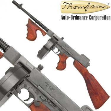 Thompson Machine Gun Replica Gangster Tommy WWII NON-Firing