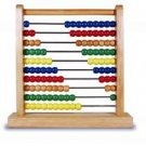 Abacus Toy vintage calculating tool math wooden beads arithmetic school aid