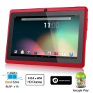 Dragon Touch® 7'' Red Dual Core Y88 Google Android 4.1 Tablet PC