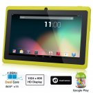 Dragon Touch® 7'' Yellow Dual Core Y88 Google Android 4.1 Tablet PC