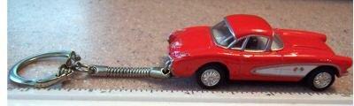 1957 Chevrolet Corvette Key Chain Red