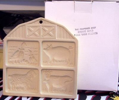 Pampered Chef Farm Yard Friends Cookie Mold NEW