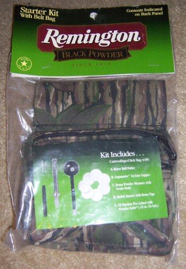 Remington Black Powder Starter Kit w/belt bag NEW