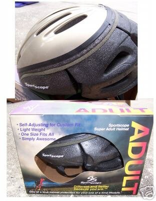 Adult Sportscope Helmet Silver NEW in Box