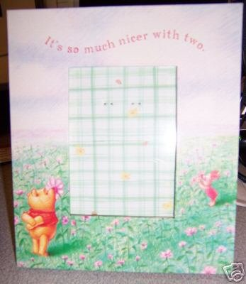 Pooh and Piglet Picture Frame 3 X 4 New