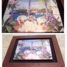 12' X 10' Frame Painted Tile--Gazebo, Water Scene