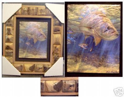 "12' X 15' Framed Painted Tile--""""Lit Fuse - Tarpon"""""