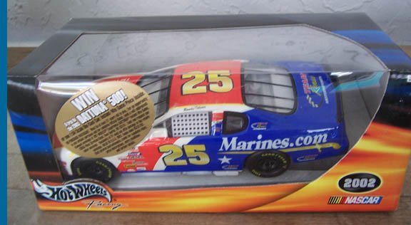 2002 Hot Wheels NASCAR Randy Tolsma #25 Marines.com