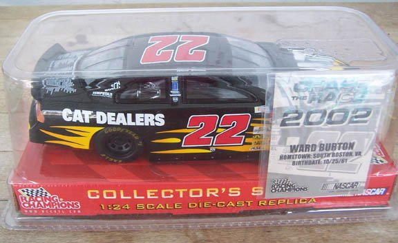 2002 Racing Champions NASCAR Ward Burton #22 Cat Dealers