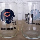 2 - Vintage 1980 Chicago Bears 16oz Glasses