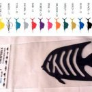 Angelfish Vinyl Decal 2 pack Purple