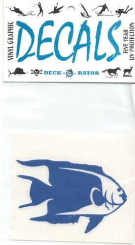 Angelfish Vinyl Decal Single Right Facing Blue