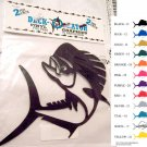 Jumping Dolphin Fish Vinyl Decal 2 pack Gold