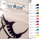 Jumping Marlin Vinyl Decal 2 pack White