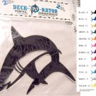 Jumping Shark Vinyl  2 pack Decal Silver