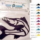 Jumping Snook Vinyl  2 pack Decal Silver