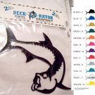 Jumping Tarpon Vinyl Decal 2 pack Black