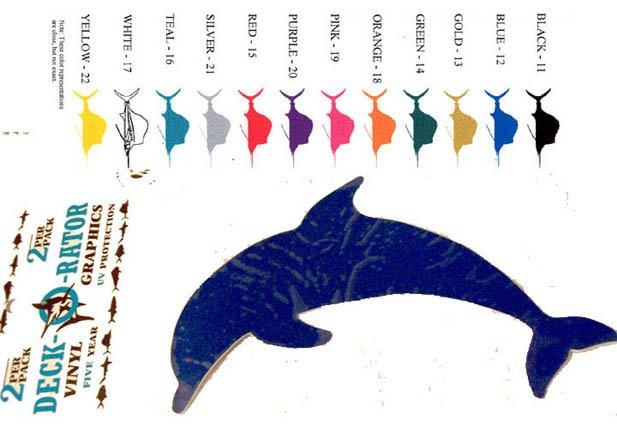 Porpoise Vinyl  Decal 2 pack Blue