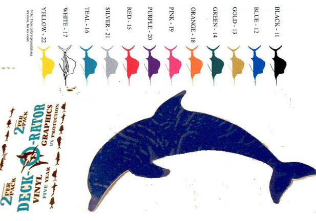 Porpoise Vinyl  Decal 2 pack Silver