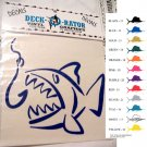 Single Jaws Left Facing Vinyl Decal Teal