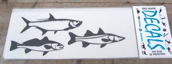 Single Small Right Facing Inshore Slam Vinyl Decal White