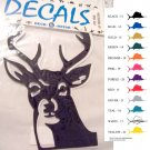 Deer Head Vinyl Decal 2 pack Black