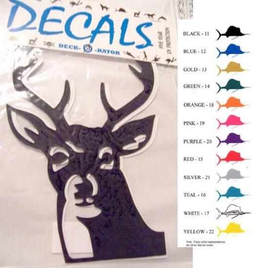 Deer Head Vinyl Decal 2 pack Teal
