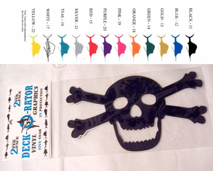 Jolly Roger Vinyl Decal 2 Pack Black