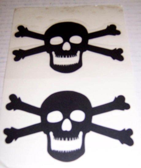 Jolly Roger Vinyl Decal 2 pack Small - Black