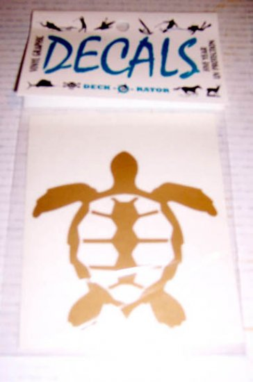 Turtle Vinyl Decal Single Gold