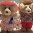 2 Wendy's 1986 Furskins Bears Hattie & Boone