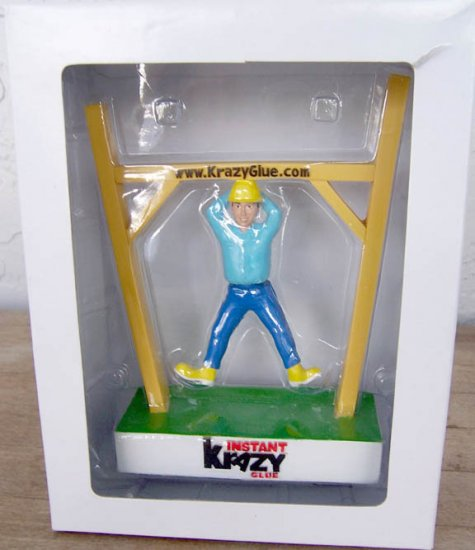 Krazy Glue 35th Anniversary Hanging Man Bobble Body