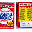 1988 Topps ToysRUs Baseball Rookies 33 Cards w/McGwire