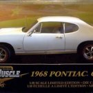 American Muscle 1968 Pontiac GTO 1:18 White New in Box
